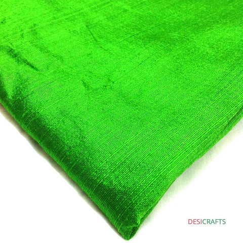 Spring Green Dupioni Silk - Raw Silk from India