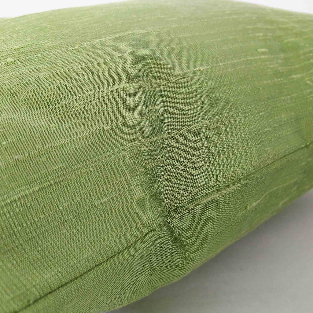 pistachio dupioni silk pillow cover