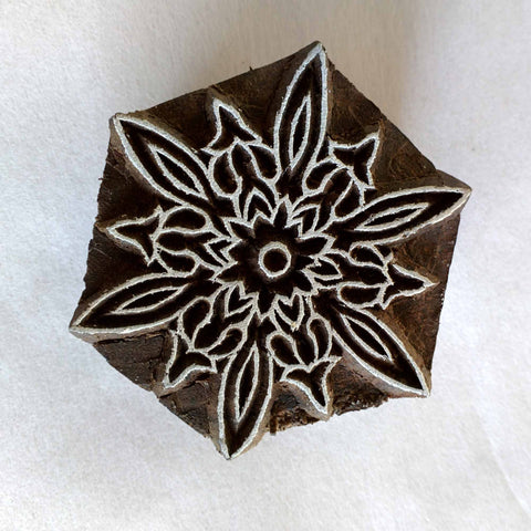 Christmas Snowflake Wood Stamp for Printing