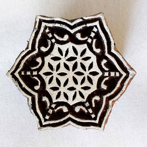 Christmas Snowflake Wood Stamp for Fabric Printing