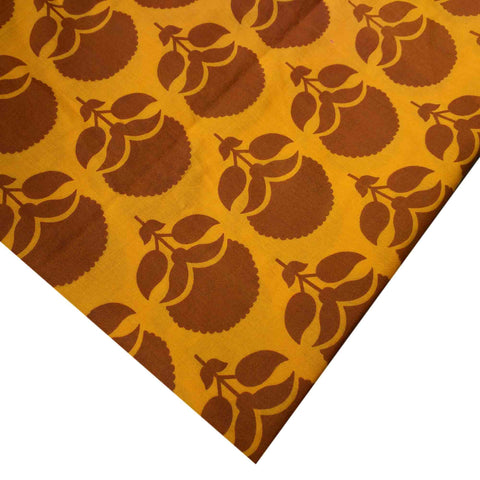 Yellow Brown Soft Cotton Fabric