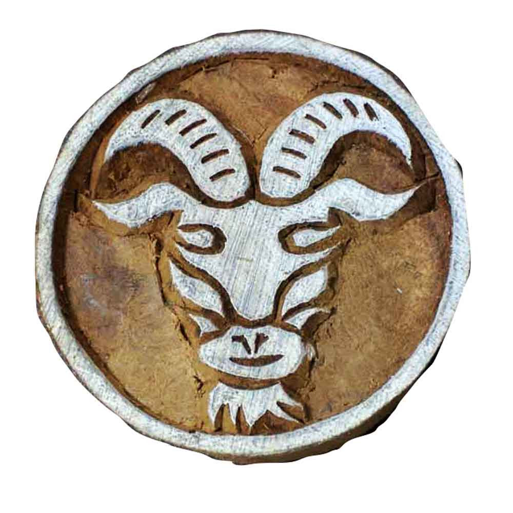 Tauras Zodiac Sign Wooden block printing stamp buy online from India