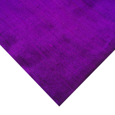 Eggplant Purple Dupioni Silk - Raw Silk from India