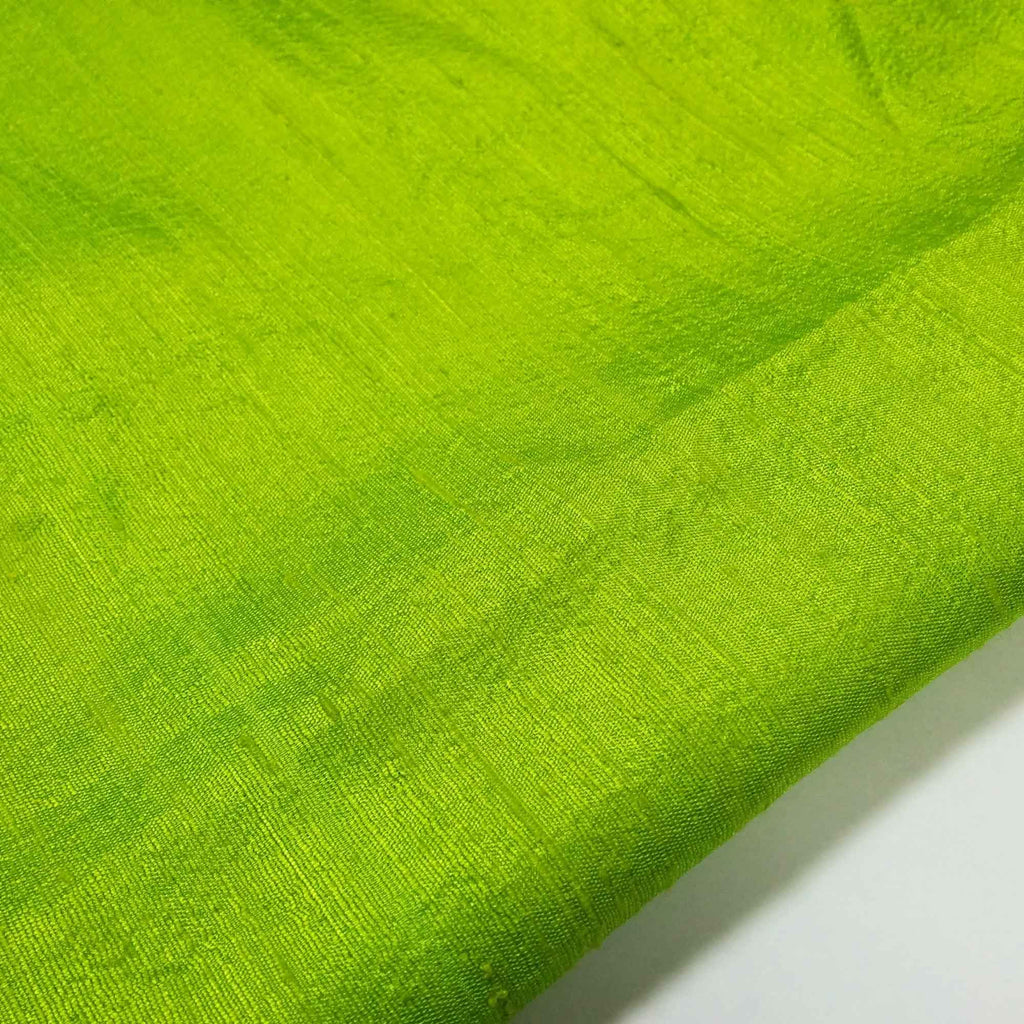 Handmade Chartreuse Dupioni Silk Fabric Buy Online From India