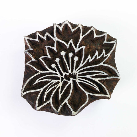 Lilly Flower Wood Block for Textile Printing