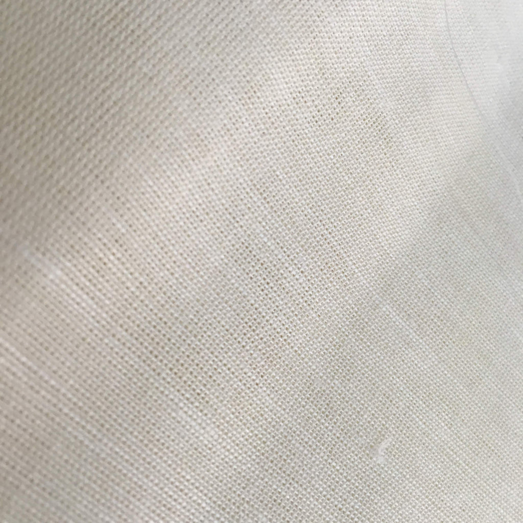 Solid Color White Linen Fabric By Yard