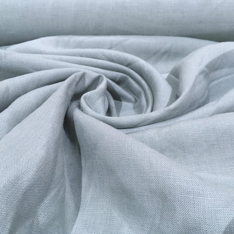 Solid Color Sky Blue Linen Fabric By Yard
