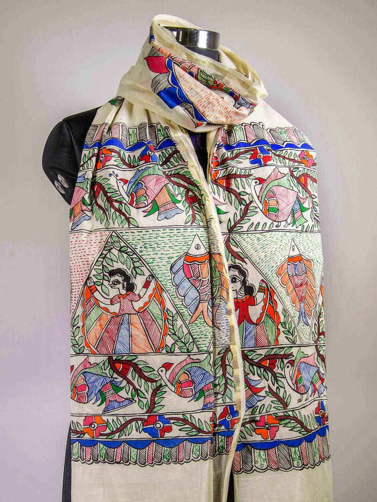 Happy Girls Cotton Madhubani Dupatta