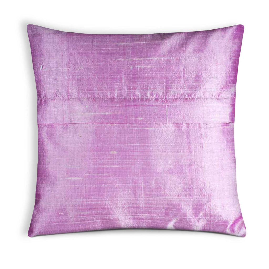Baby Pink Raw Silk Cushion Cover