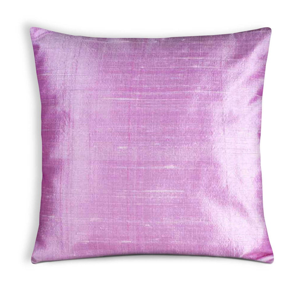 Baby Pink Raw Silk Cushion Cover Buy Online from DesiCrafts