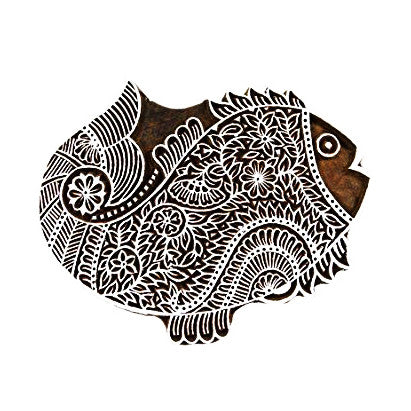 Big Fish Wooden Block Printing Stamp Buy Online From DesiCrafts