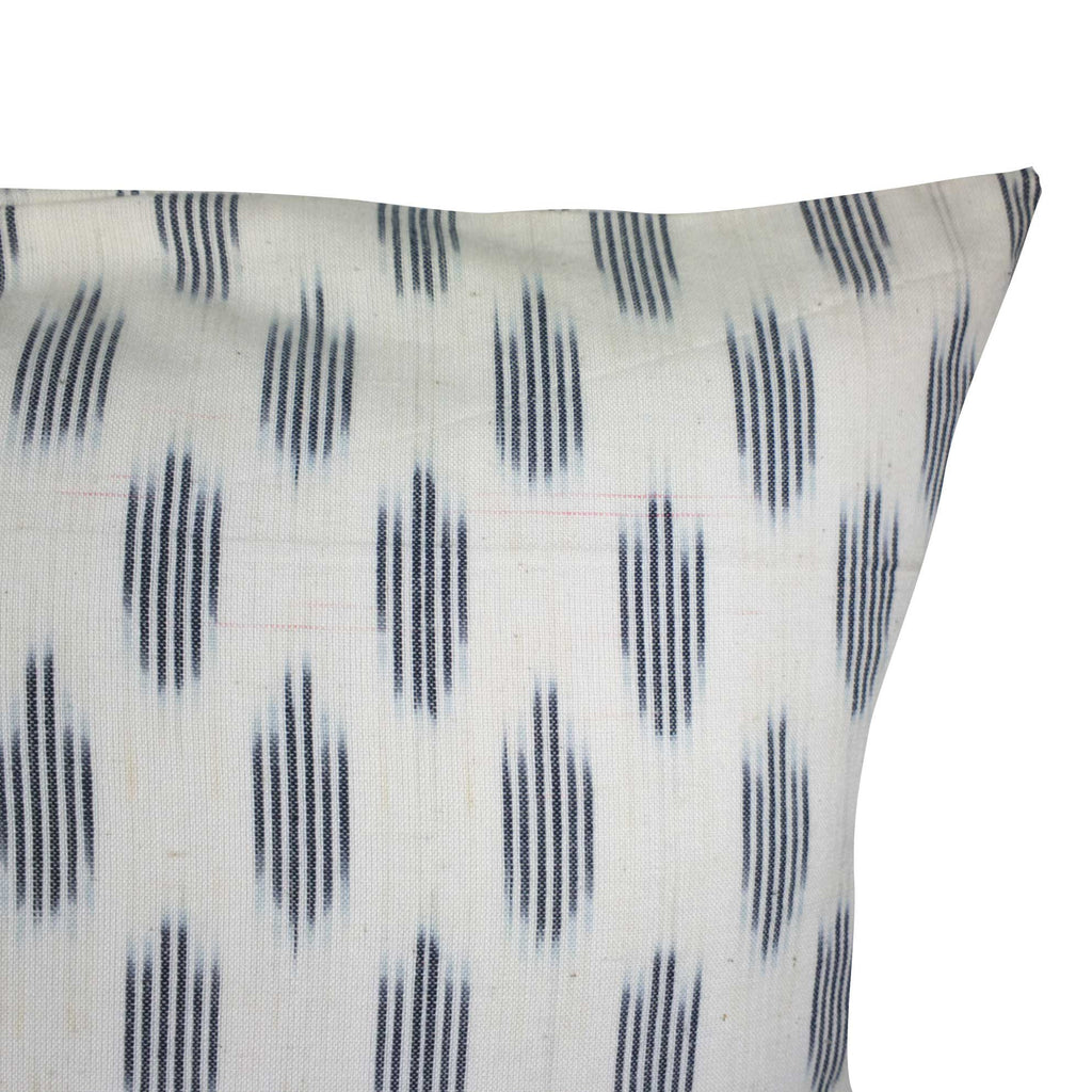 White and Black Ikat Diamond Cotton Pillow Cover Buy Online From India