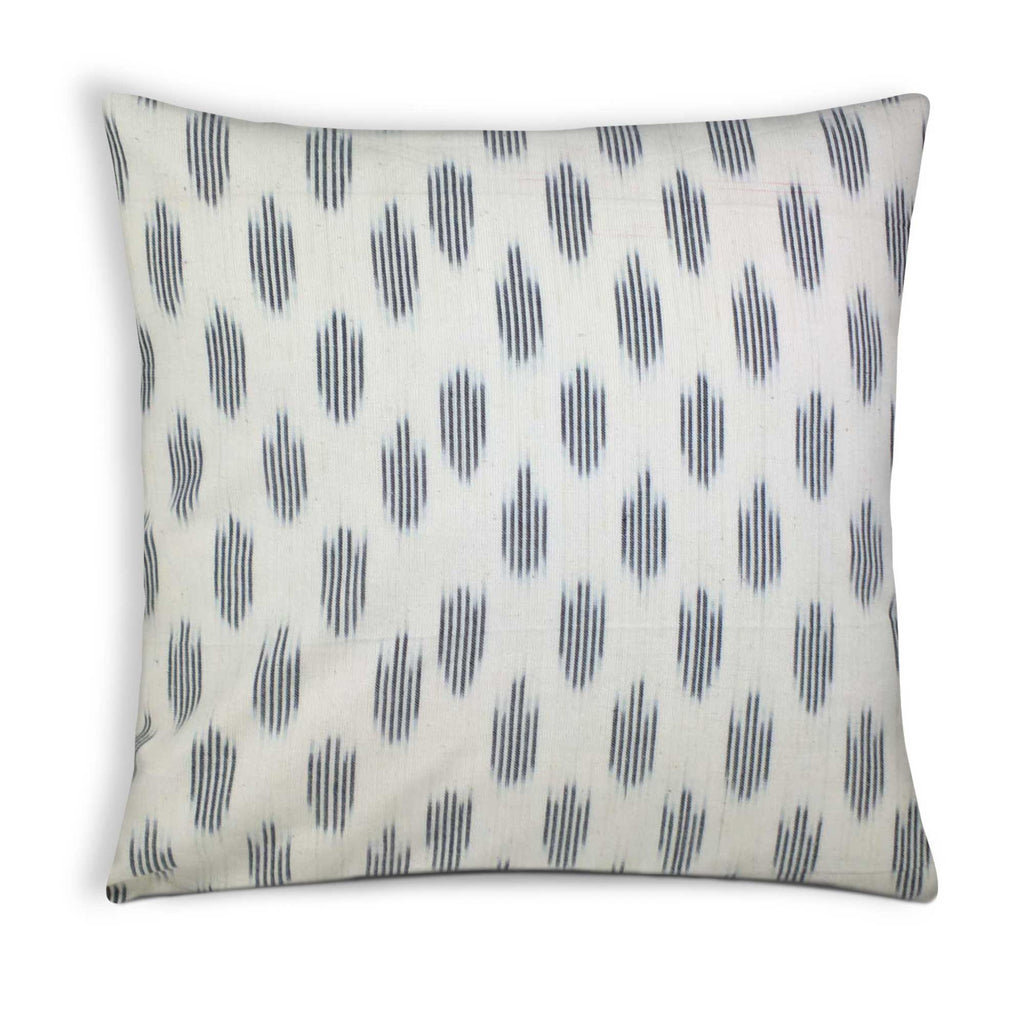 White and Black Ikat Diamond Cotton Pillow Cover Buy Online From DesiCrafts