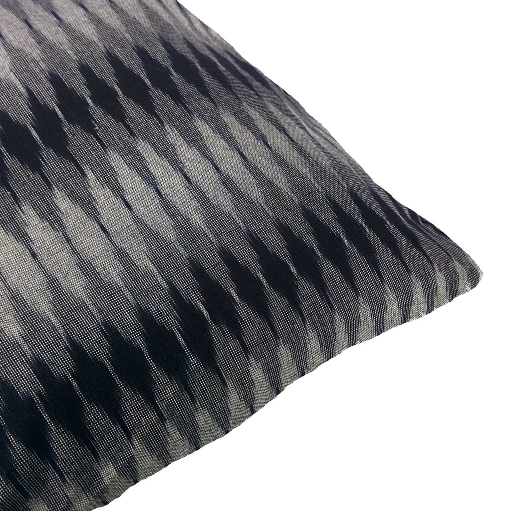 Ikat Cushion Cover in Black and Grey