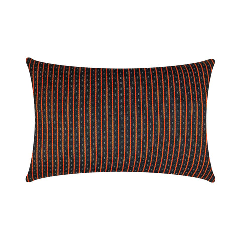 Black and Red Striped Mashru Silk Lumbar Cushion Cover Buy Online