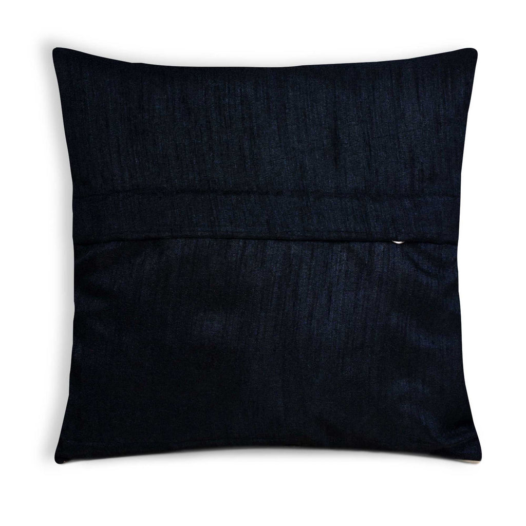 Black and gold tear drop silk pillow cover