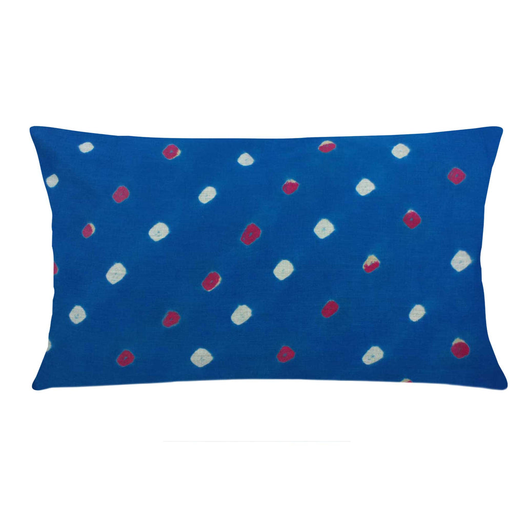 Teal Bhandhani Cotton Pillow Cover Buy Online From DesiCrafts