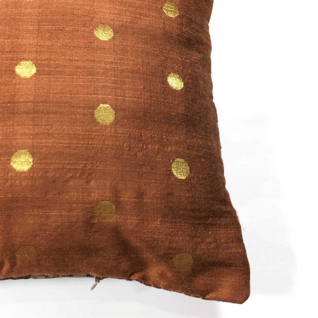 Handmade silk pillow cover buy online from DeiCrafts