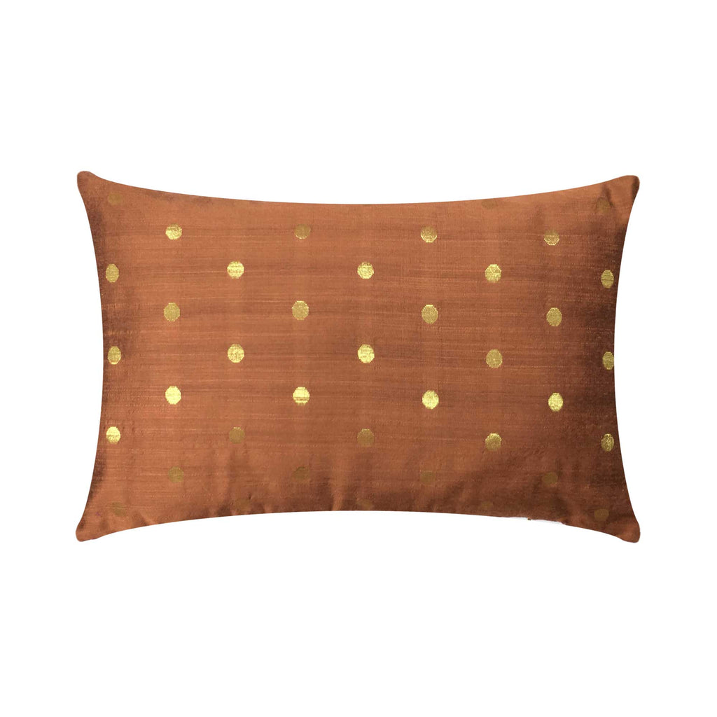 Double sided silk lumbar cushion cover buy online from India