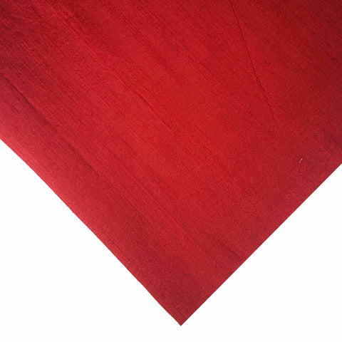 Burgundy Pure Dupion Silk Fabric Buy Online from India