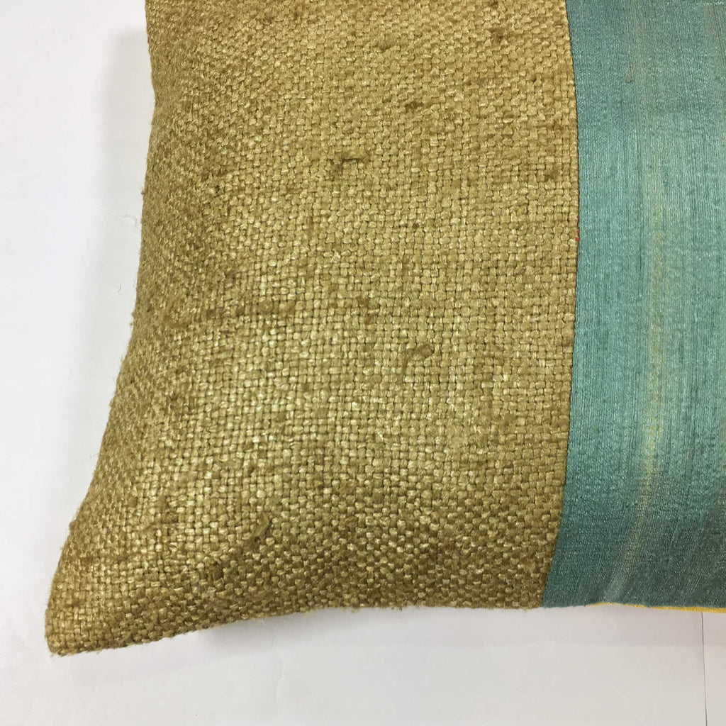 Handmade Bhagalpuri Jute Silk Pillow Cover Buy online from DesiCrafts