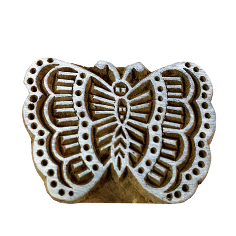 Butterfly pattern wooden stamp for printing