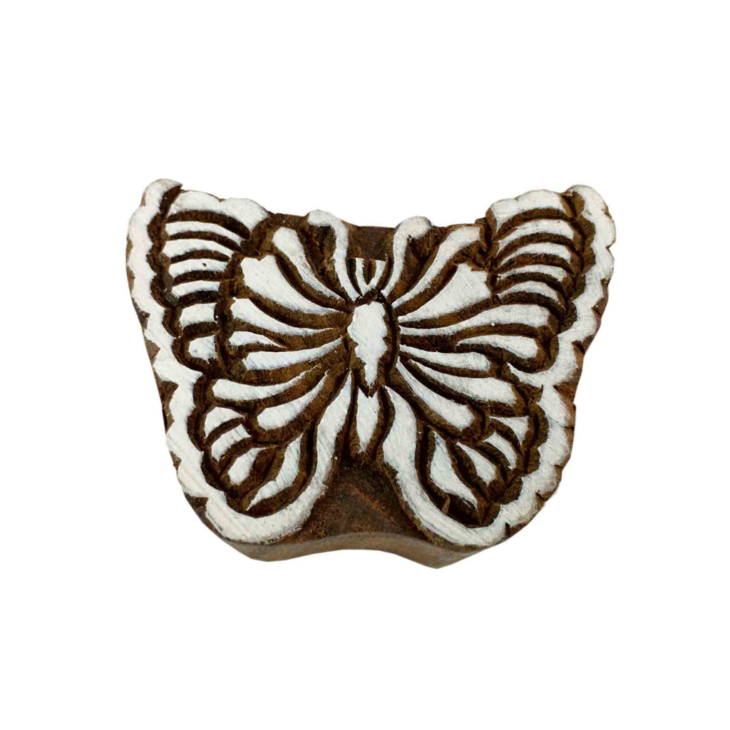 Butterfly wood stamp for printing