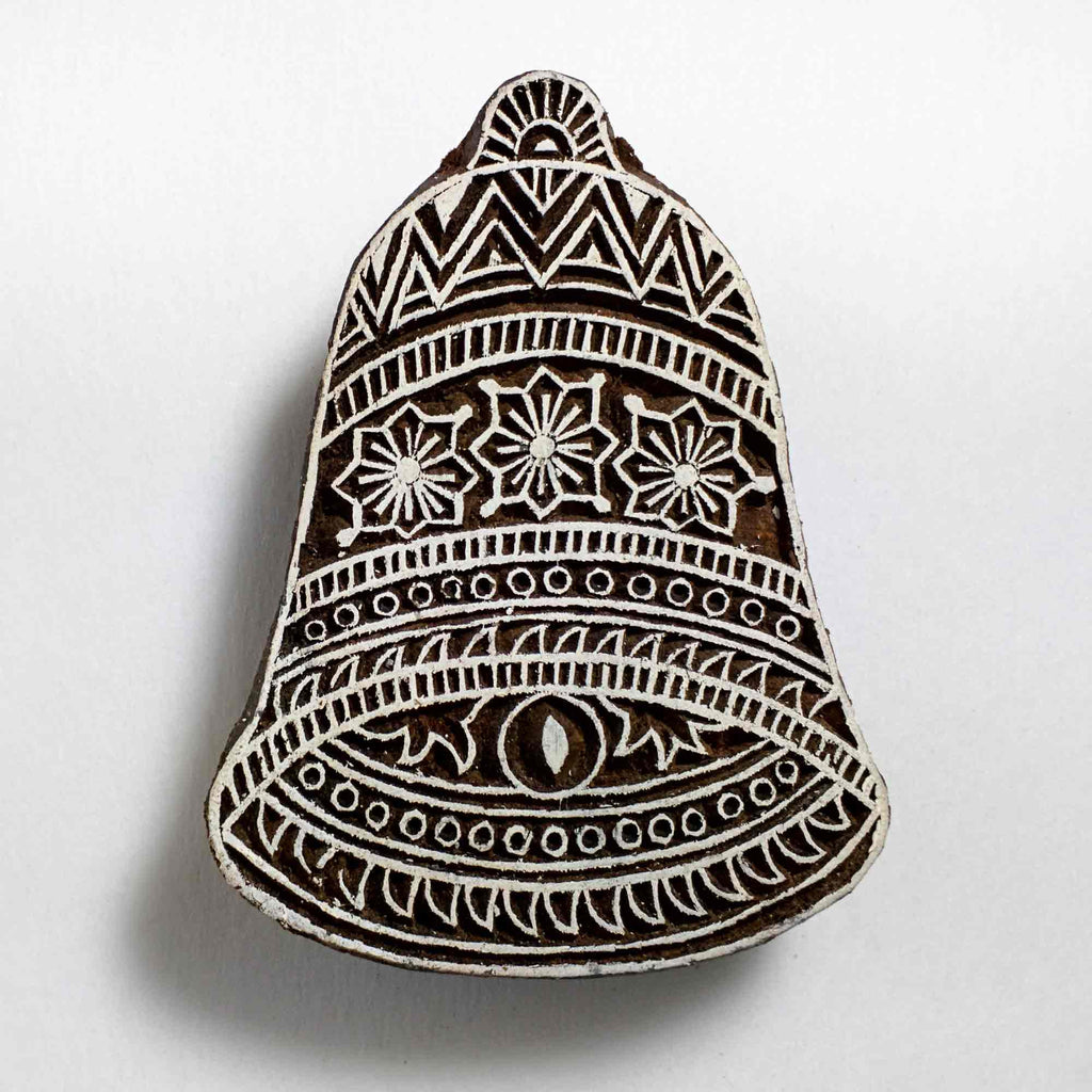 Christmas Bell Wooden Stamp
