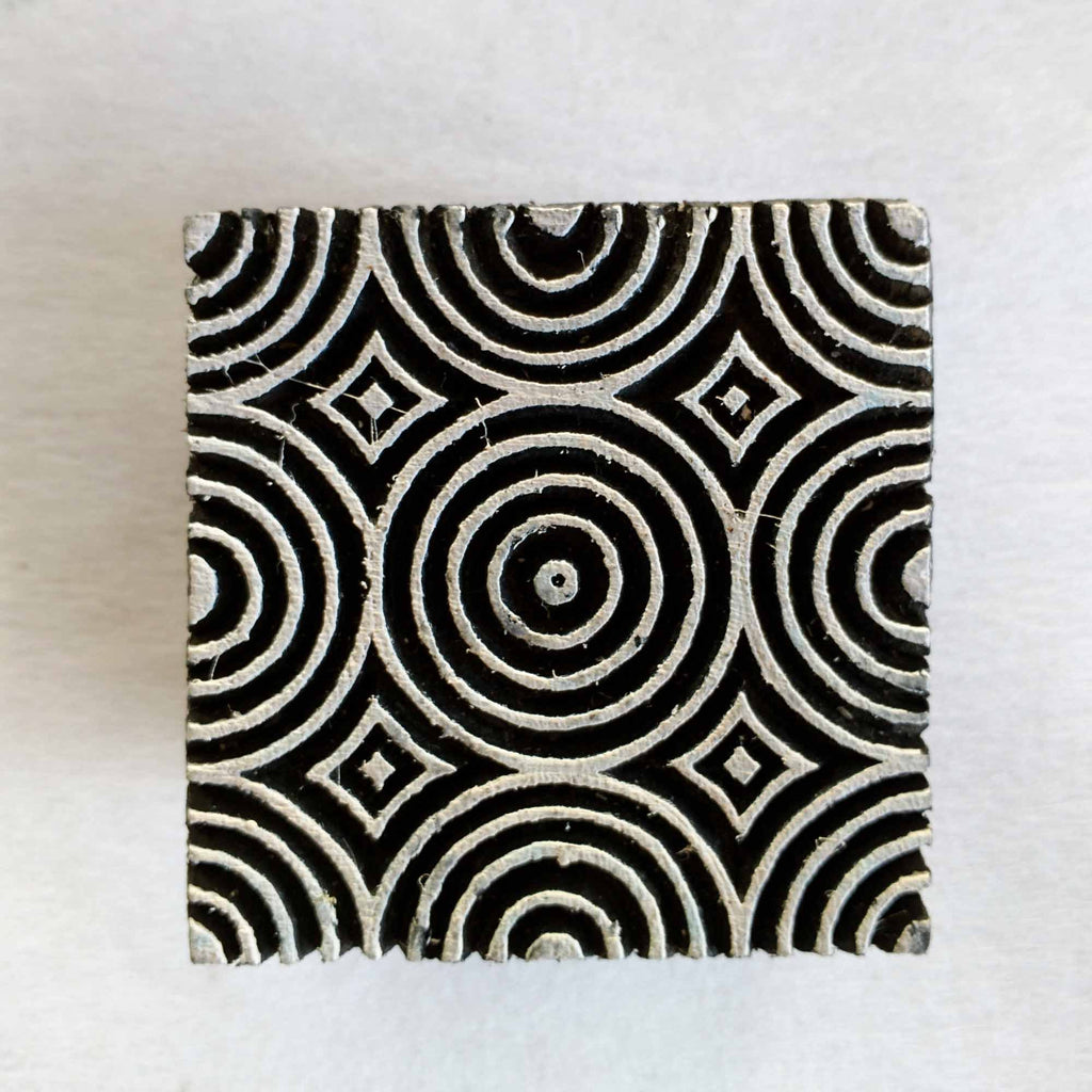 Circles Wooden Block Printing Stamp