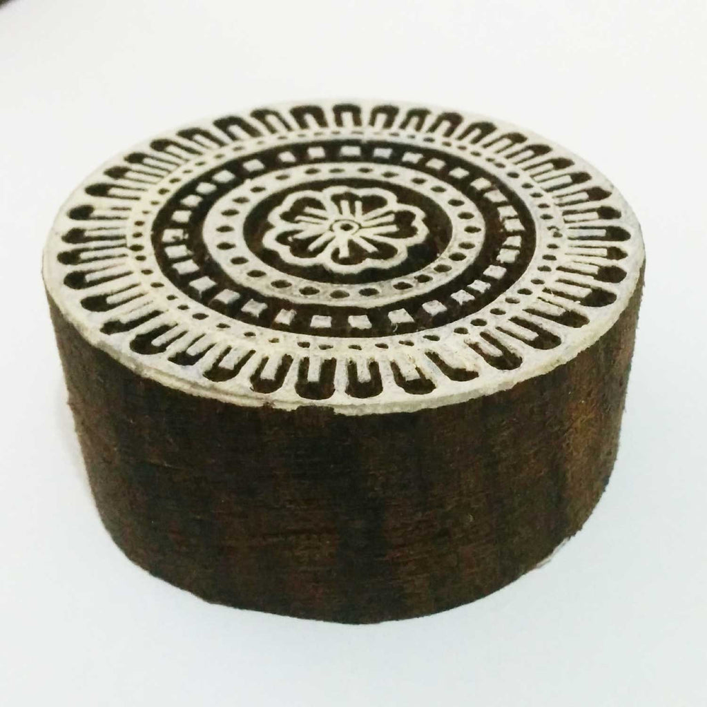 Intricate Carving Mandala Wooden Stamp