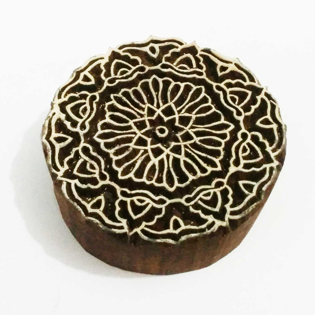 Mandala Wooden Stamp For Hand Block Printing