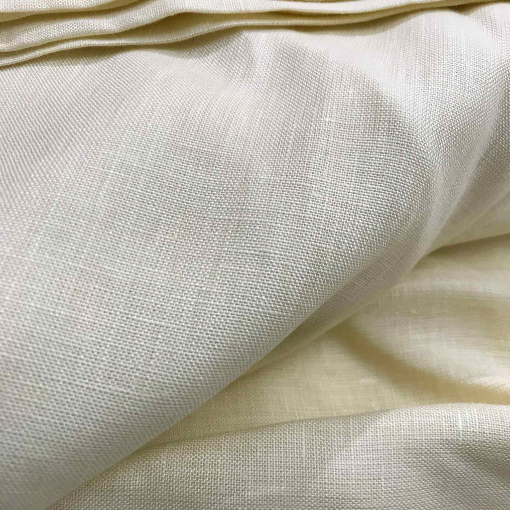 Cream Solid Color Linen Fabric