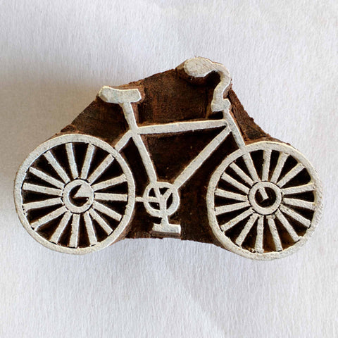 Bicycle Wooden Stamp for Fabric Printing