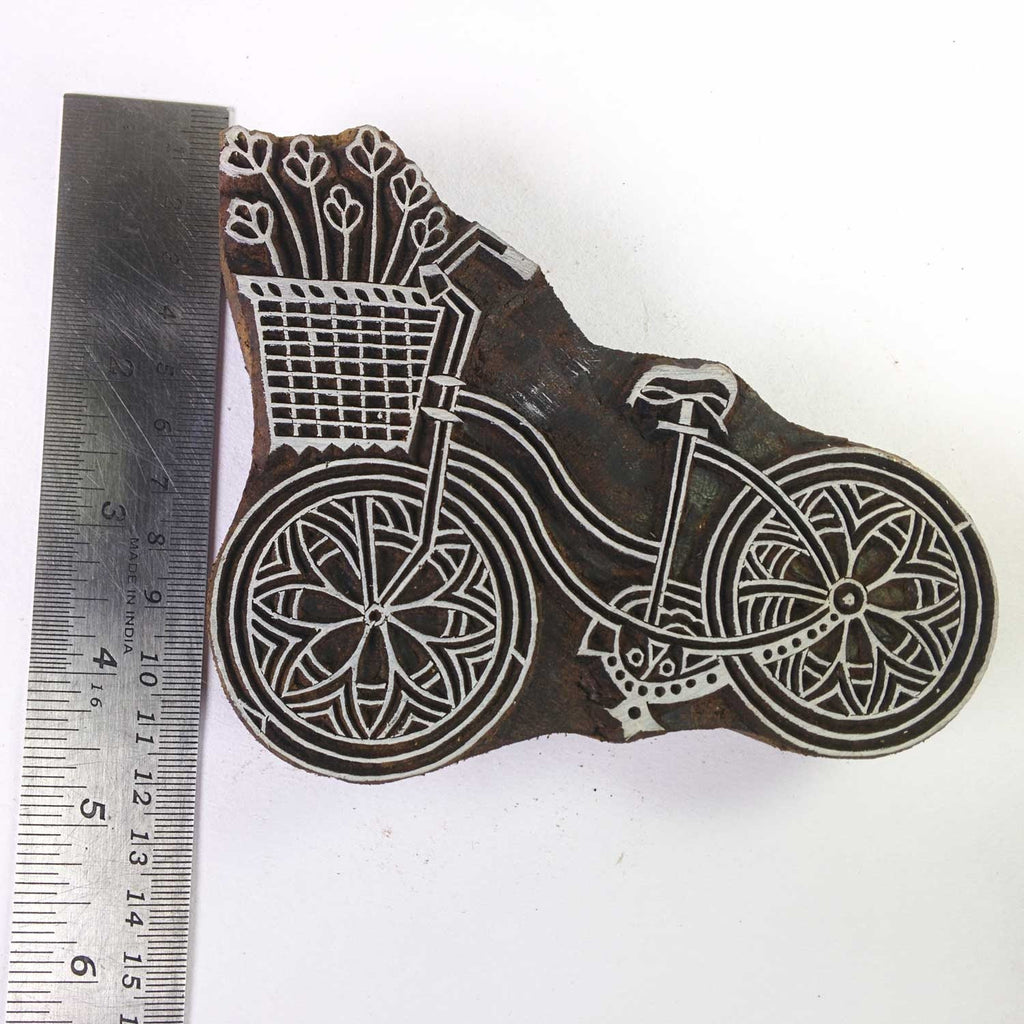 Cycle / Bike Stamp for Fabric and Paper Printing