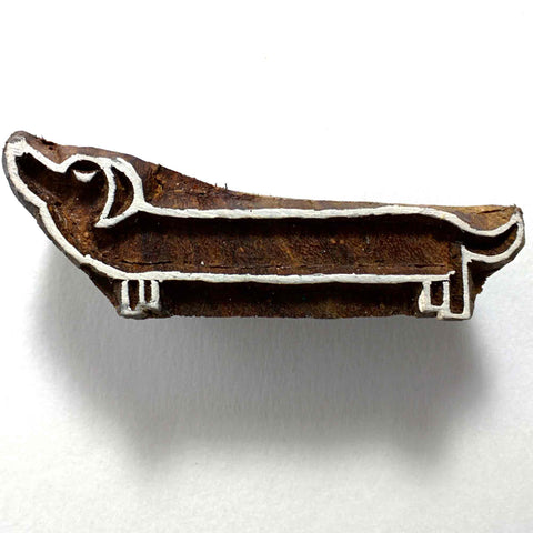 Dachsund Dog Wooden Stamp