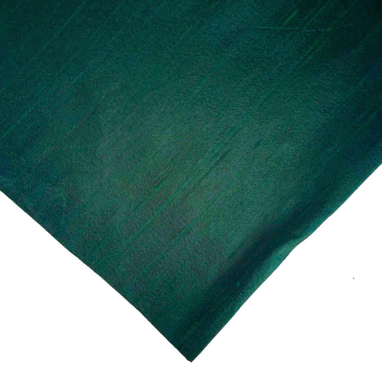 Forest Green Pure Raw Silk Fabric Desicrafts