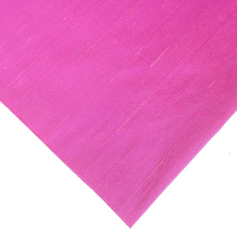 Dark Pink Pure Dupion Silk Fabric from DesiCrafts