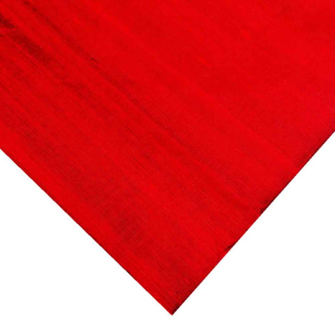 Deep Red Raw Silk Fabric