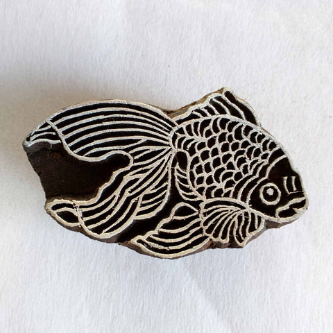 Dragon Fish Wooden Stamp for Fabric Printing