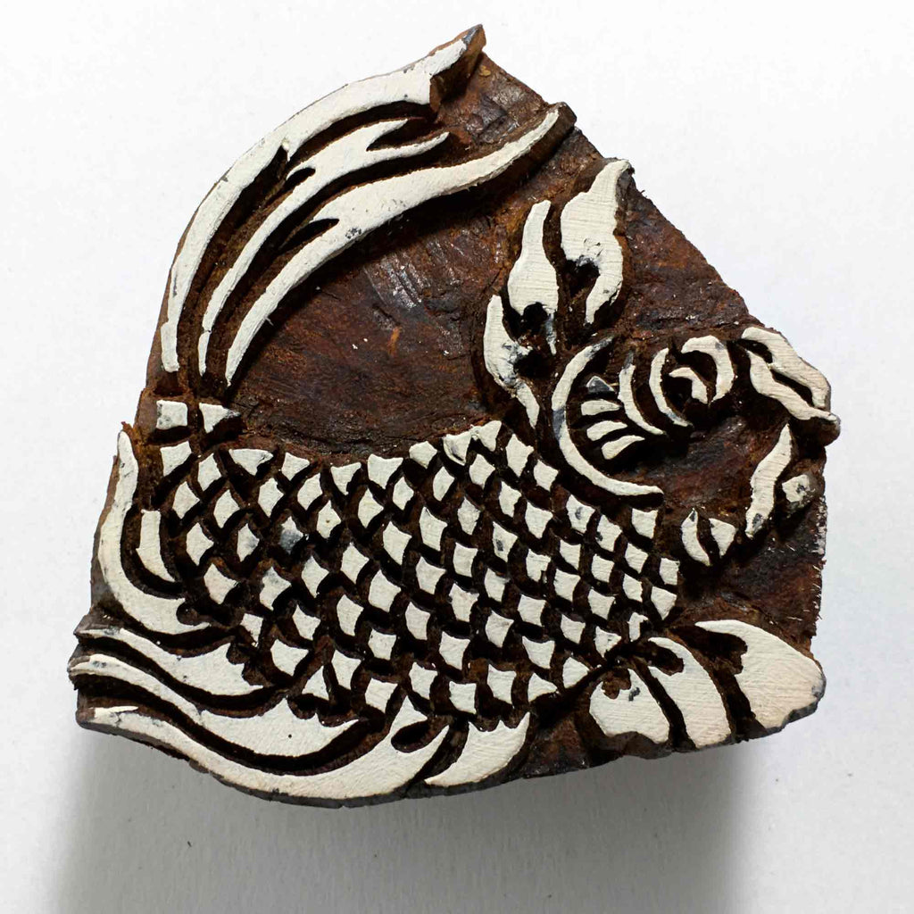 Dragon Fish Wooden Stamp for Printing