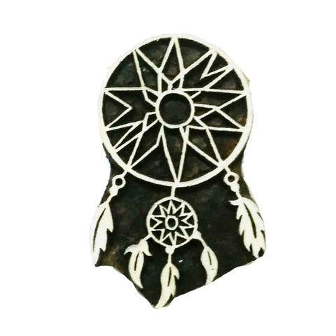 dreamcatcher wooden stamp