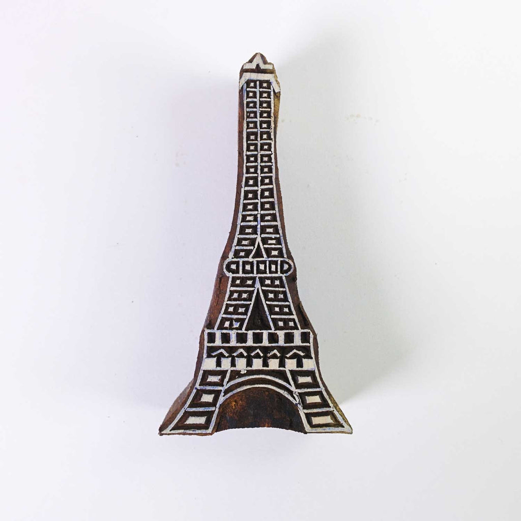 Eiffel Tower Wood Block for Textile Printing