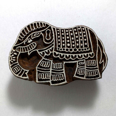 Jaipur Elephant Wooden Stamp for Printing
