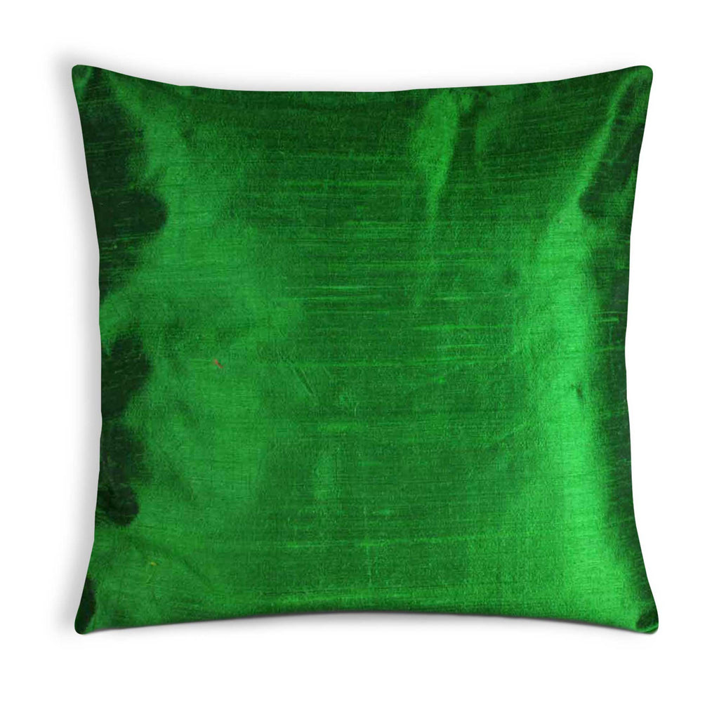 Emerald green silk pillow cover buy online from India