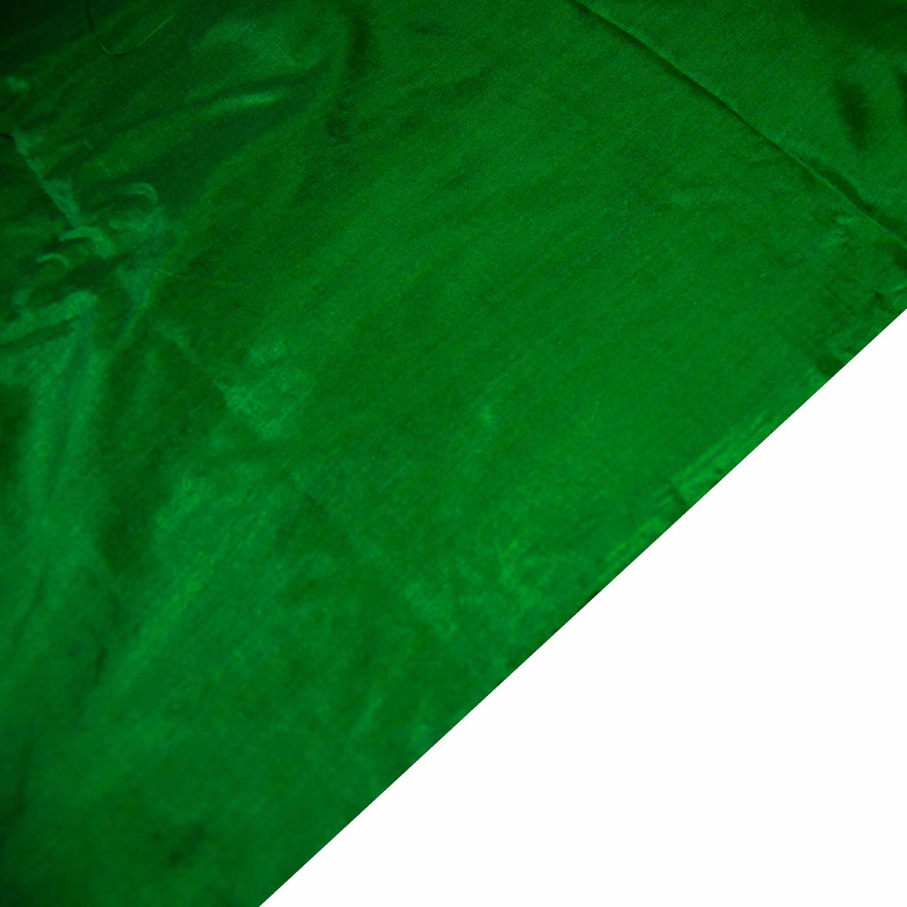 Emerald Green Soft Silk Fabric for dress and curtains