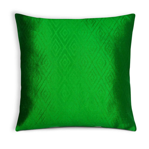 Green Soft Silk Pillow Cover