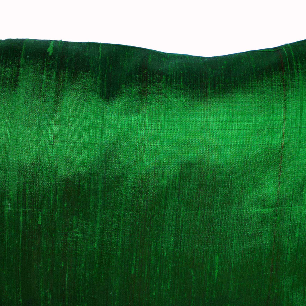 Green and coral lumber raw silk pillow cover buy online from India