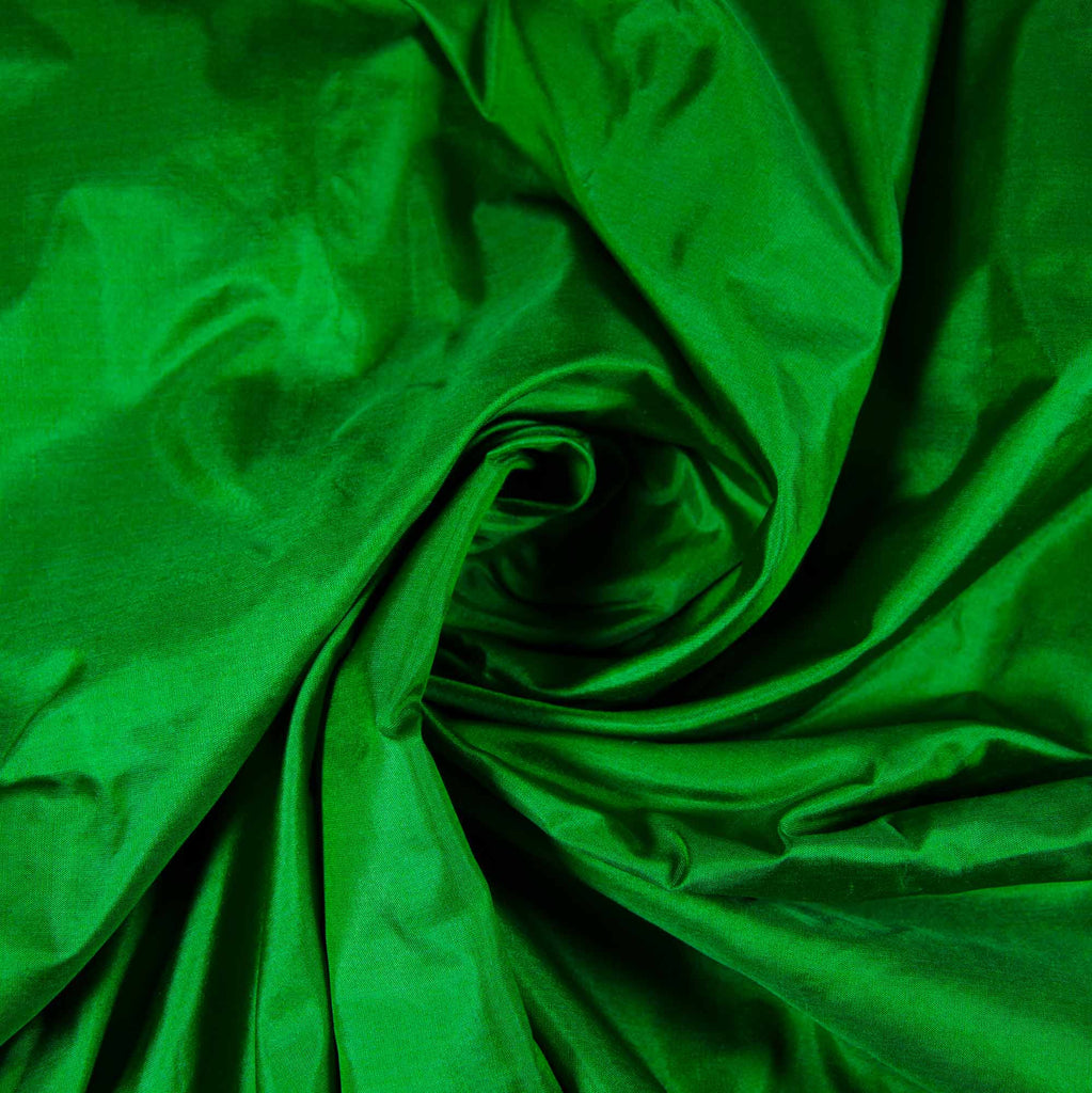 Emerald Green Soft Silk Fabric buy online from India Wholesale