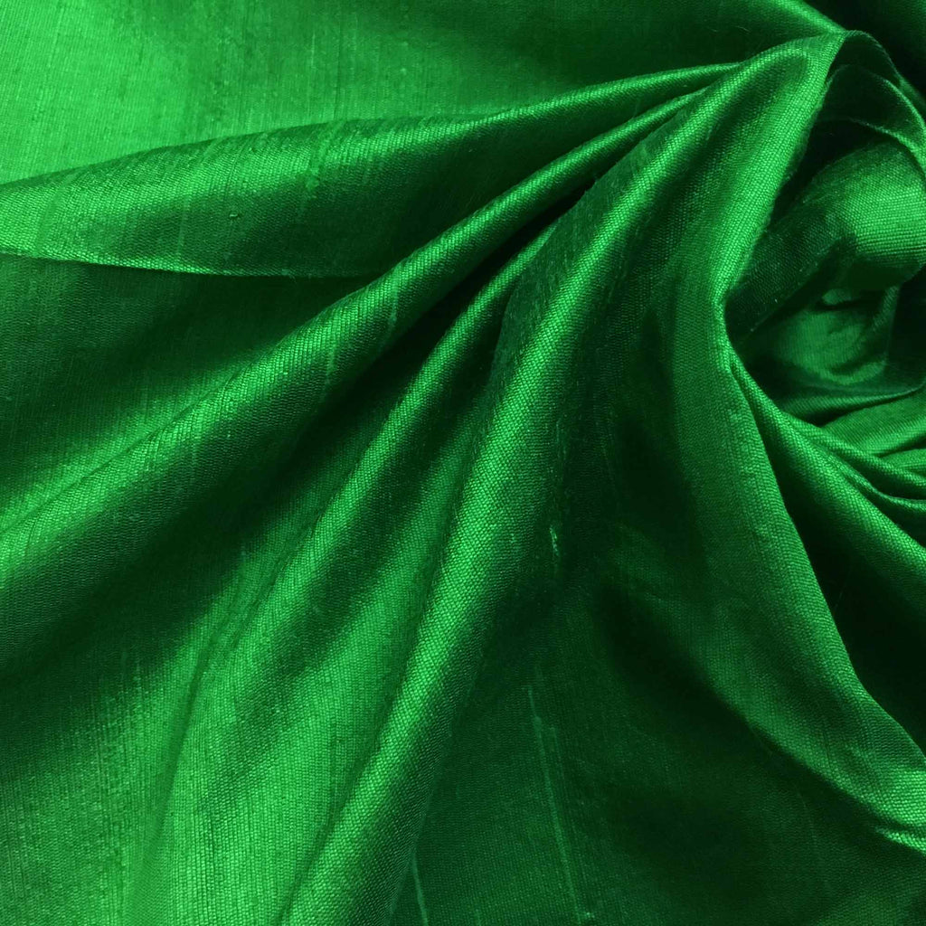 Emerald Green Raw Silk Fabric Buy Online