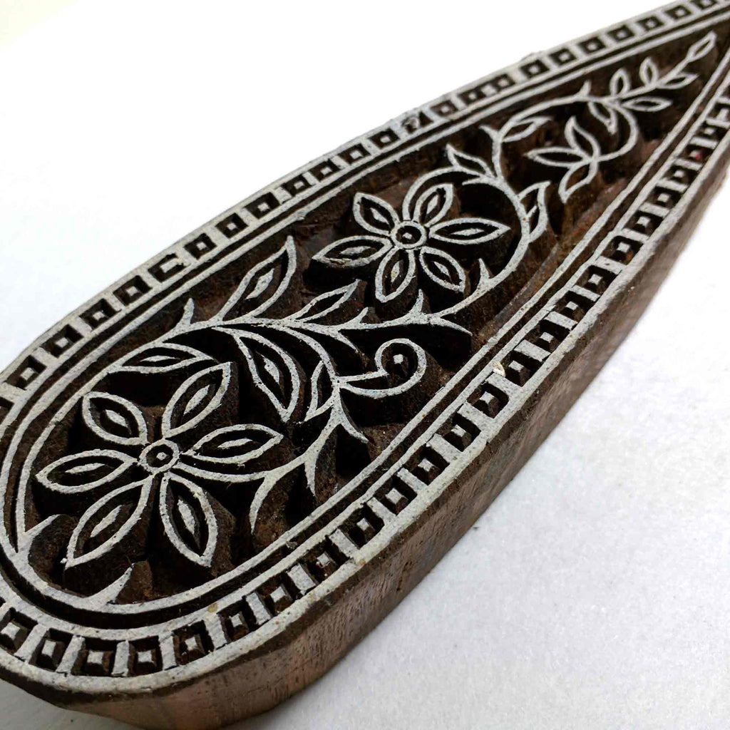 Paisley Textile Printing Wooden Block